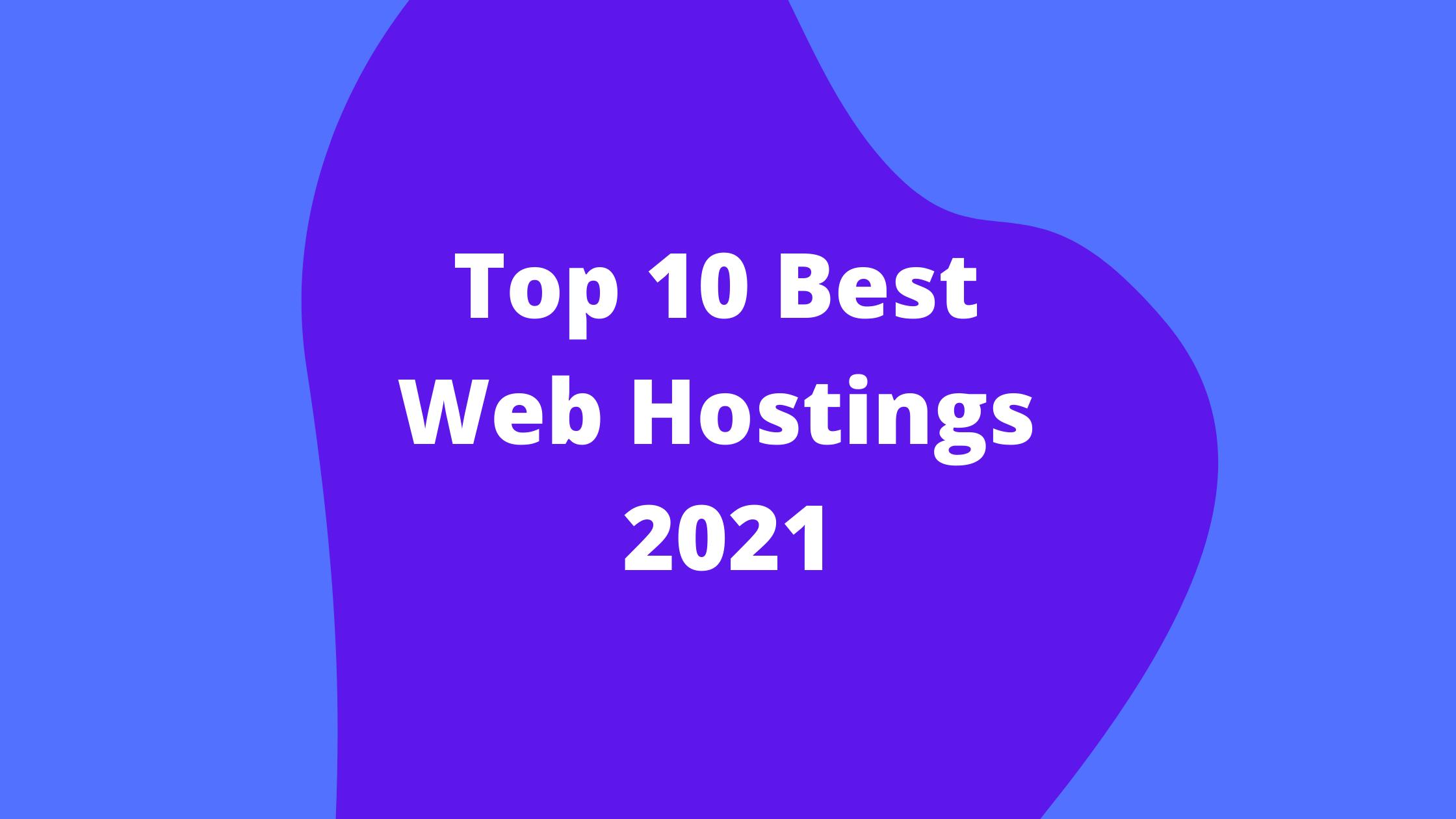 top 10 best web hosting in india 2021